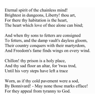 Sonnet on Chillon