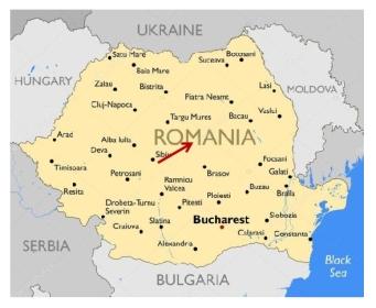 Map to Sighisoara