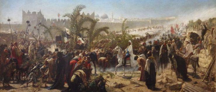 Crown Prince Friedrich Wilhelm of Prussia enters Jerusalem in 1869