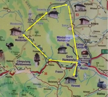 Monastery map
