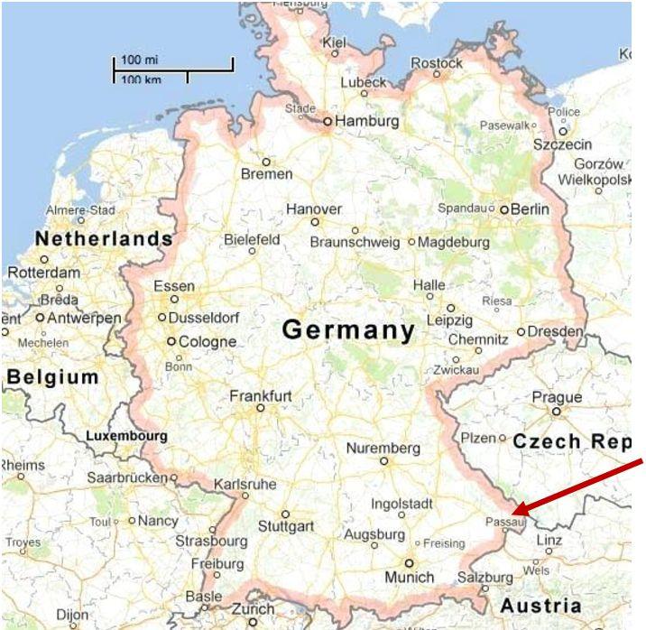 German map Passau