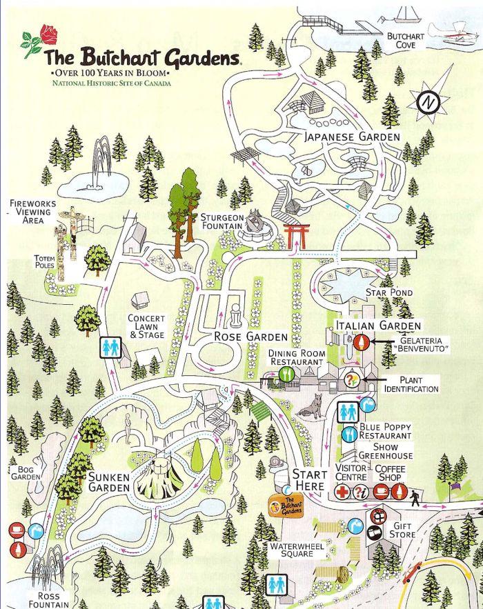 butchart-gardens-map 2