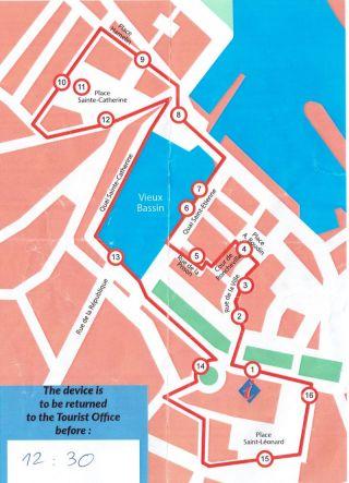 Honfleur tourist map 1a