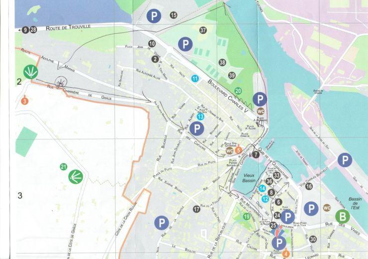 Honfleur tourist map 2a