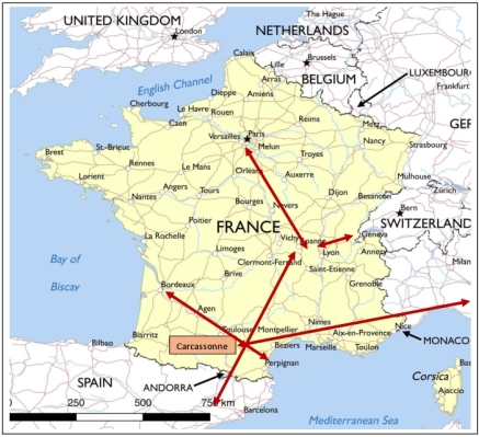France trade map 1