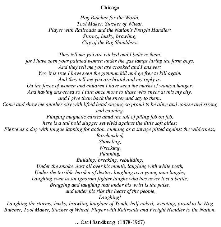 Chicago Poem