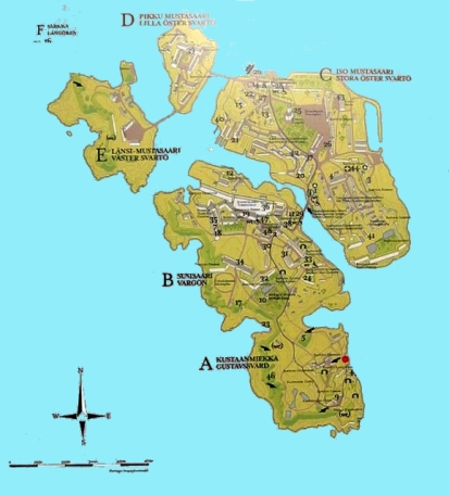 Map of Suomenlinna - Copy