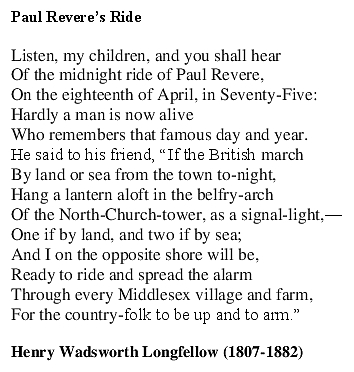 Paul Reveres Ride 1