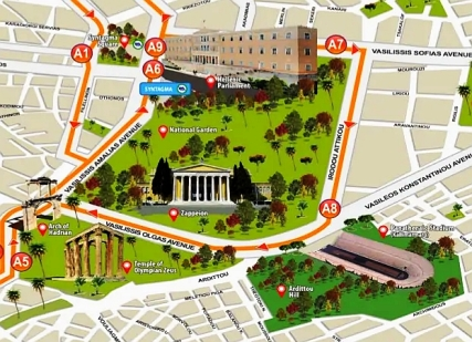 athens-tourist-attractions-map 7