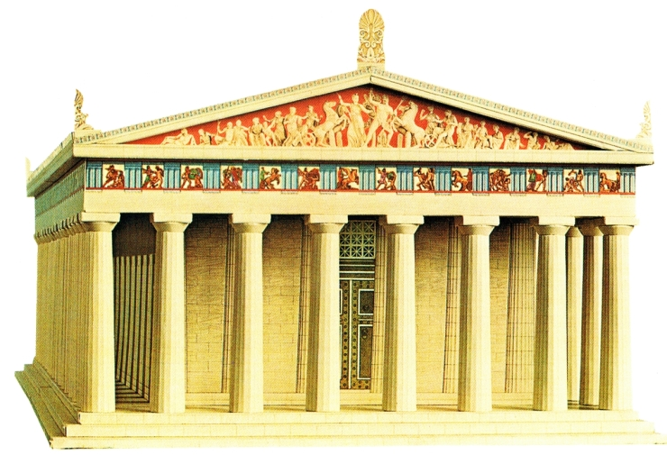 Parthenon in colour a