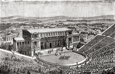 theatre of Dionysius reconstruction a