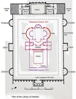 Plan Of Hadrian's Libray