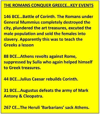 ROMANS CONQUER GREECE