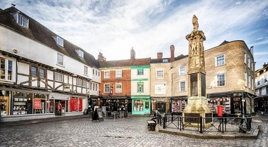 The Butter Market, Canterbury, Kent, England, UK
