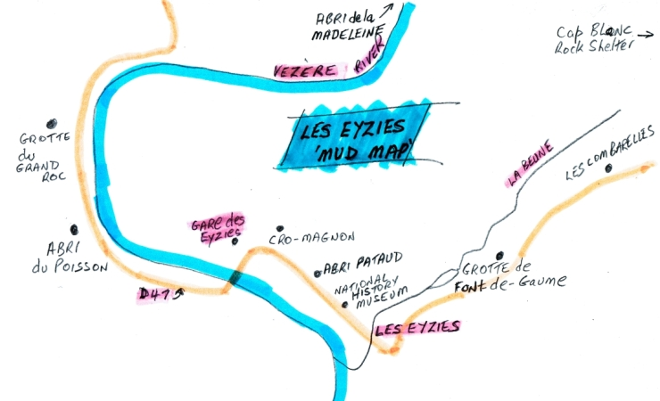 Les Eyzies mud map 2