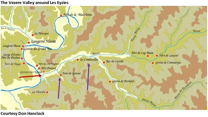 Vezere Valley Map