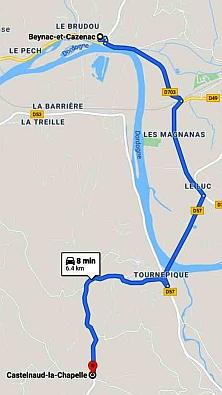 Beynac to Castelnaud