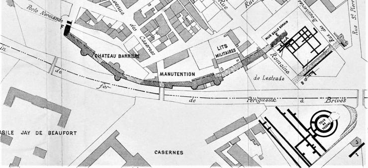 Plan_des_fouilles_de_Vésone_en_1906 a