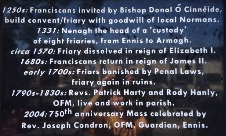 0 Friary plaque Nenagh