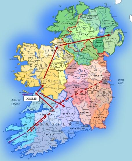 0 IRELAND MENU MAP